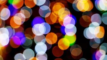 gran desenfoque y luces de colores bokeh