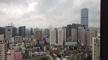 Hyperlapse von Wolkenkratzern in Shenzhen, China