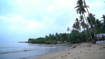 The Peaceful Beach in The Morning