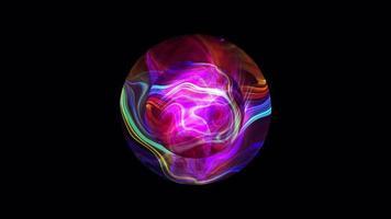 Boucle de boule de verre plasma futuriste magique coloré de science-fiction