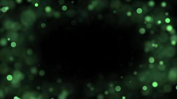 Abstract Green Bokeh Lights 4K
