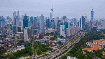 centro de la ciudad de kuala lumpur en malasia video