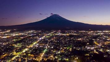 Mount Fuji on sunset at Fujiyoshida city, Yamanashi, Japan