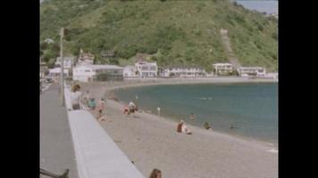 Super 8 - People on a beach in New Zealand video