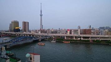 Cityscape Time Lapse in Sumida, Tokyo.