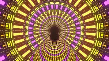 Endless Rotating Neon Lights