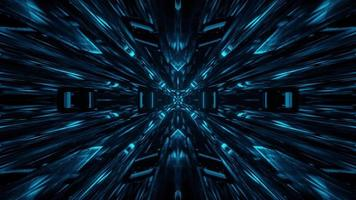 Blue Sci Fi Glass Tunnel Visual Motion Design