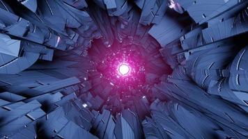 loop dj astratto in movimento attraverso tunnel astratto