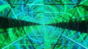 verde e azul wireframe neon linhas dj loop fundo video