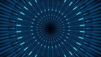lampeggiante tunnel al neon rotondo