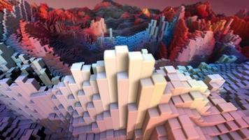 fundo colorido das barras 3D