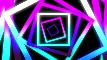 fundo abstrato quadrado brilhante com efeito de movimento do elemento digital. video