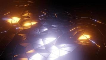 animación de onda de reflexión de estructura metálica triangular