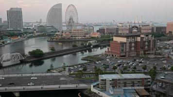 Dusk time lapse at the Minato Waterfront, Japan.