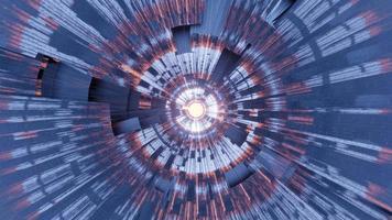 supernova volo veloce attraverso tunnel astratto