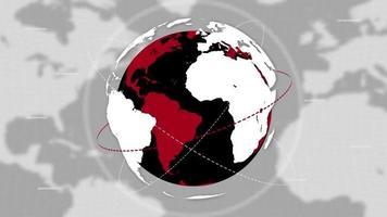 fundo de notícias do planeta Terra e linhas de conexão