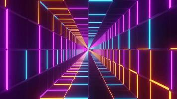 fundo abstrato infinito neon visual vj loop