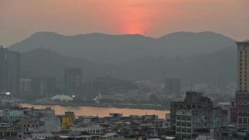 Macau City During Sunset video