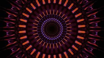 Orange Neonlichter und Reflexionen Konzert visuelle DJ-Schleife