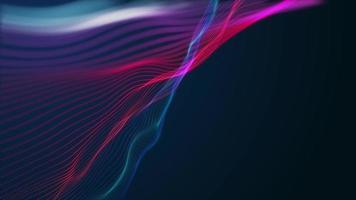 fundo gradiente ondulado abstrato do plexo, 4k video