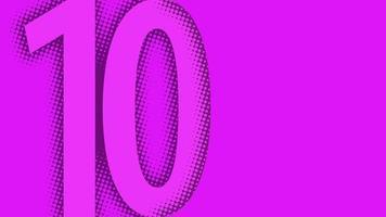 dieci mezzitoni sfondo numero