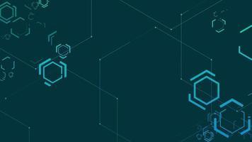 Futuristic Hexagon Sci-Fi Background