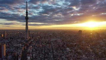 Tóquio, Japão, durante o nascer do sol video
