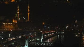 Night Time at the Golden Horn Istanbul