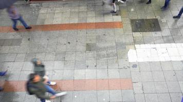 lapso de tempo no Istambul Kadikoy diretamente de cima video