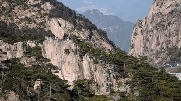 paysage de la montagne huangshan (montagnes jaunes), Chine.