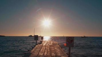 Sun Going Down Behind the Pier in Spain video