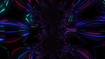 luzes de néon coloridas abstratas movendo-se por toda a tela video