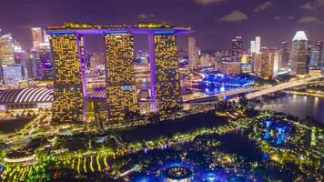 Skyline de Singapour la nuit video