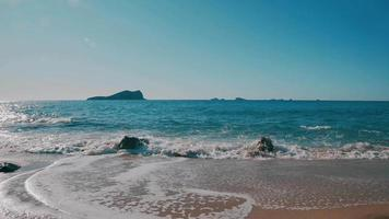 Balearic Island Ibiza Beach Washed by the Waves video
