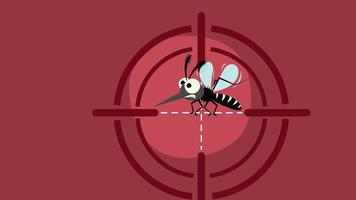 Signaling a mosquito target on red background