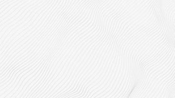 onda de ponto preto abstrato em fundo branco, 4k