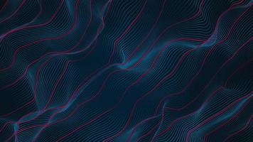 abstrakter blauer und roter Wellenlinienhintergrund