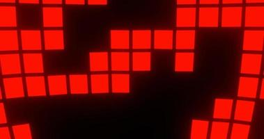 Red Glowing Square Tile Pattern
