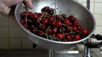 Washing Cherries in Slow-Motion