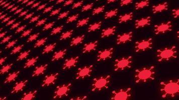 fondo rojo brillante coronavirus