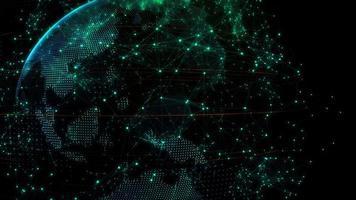 conexão de dados de tecnologia mundial
