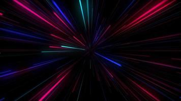 Abstract Colorful Neon Light Background video