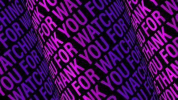 obrigado por assistir 3d loop cor violeta video