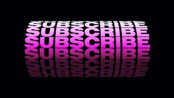 Subscribe Pink 3D text wheel Loop Alpha Channel