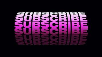 abonnieren rosa 3d Text Rad Schleife Alpha-Kanal