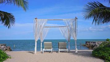 Beach Chairs and Bamboo Canopy