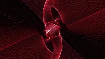 loop sfondo futuristico linea dinamica della maglia dell'onda rossa