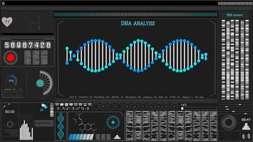 Blue DNA sequence. Science background.