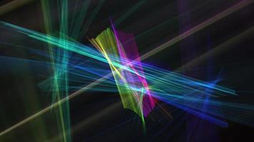 Fondo de animación de líneas de cruce multicolor de tecnología futurista abstracta