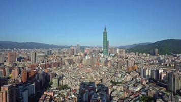 paisaje de la ciudad de taipei video